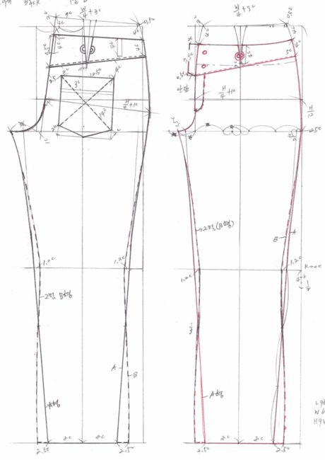drafting jeans pattern 469b0eaf580ca&filename=청바지패턴2.gif (460×650) from…