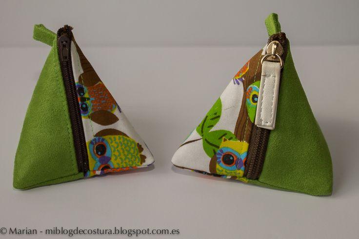 Mi blog de costura: Tutorial monedero triangular
