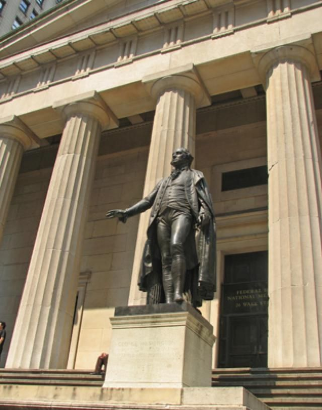 Select A few Colonial Landmarks in Lower Manhattan- NYC: Federal Hall National Monument
