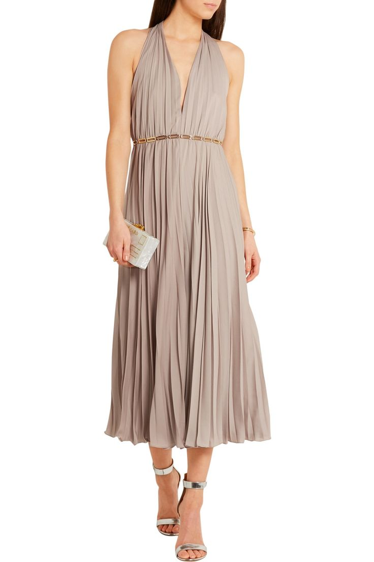 Shop on-sale Halston Heritage Embellished pleated georgette jumpsuit. Browse other discount designer Jumpsuits & more on The Most Fashionable Fashion Outlet, THE OUTNET.COM