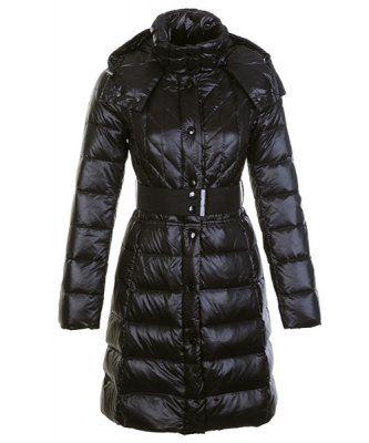 Cheap Moncler Cheap Down Coats Women Belt Decoration Black Outlet.