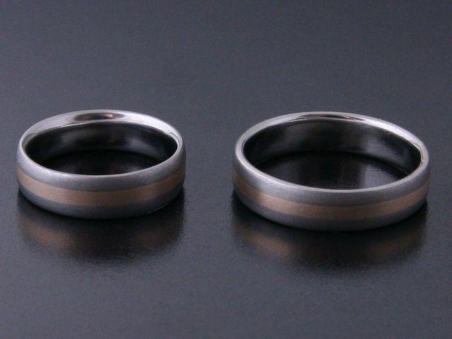 #Rings by #Bielak  #wedding rings  #titanium / pink #gold #wedding #band