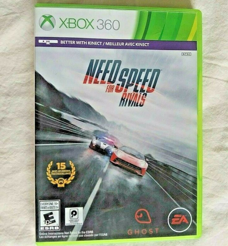 Xbox 360 Forza Need For Speed Rivals Car Racing Video Game