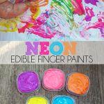 Neon Taste Safe Finger Paint Baby Activity
