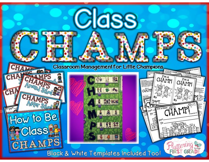 Class CHAMPS Classroom Management for Little Champions