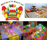 Margies Parties - Brackenfell Cape Town, offer a full range of party services to suit your theme. We have various packages available to suit all budgets.Items for hire include: Photo Boards; Tables & Chairs; Theme Decor; Bubble Machines; Balloons; ; Jumping Castles & Slides; Party Entertainment etc.