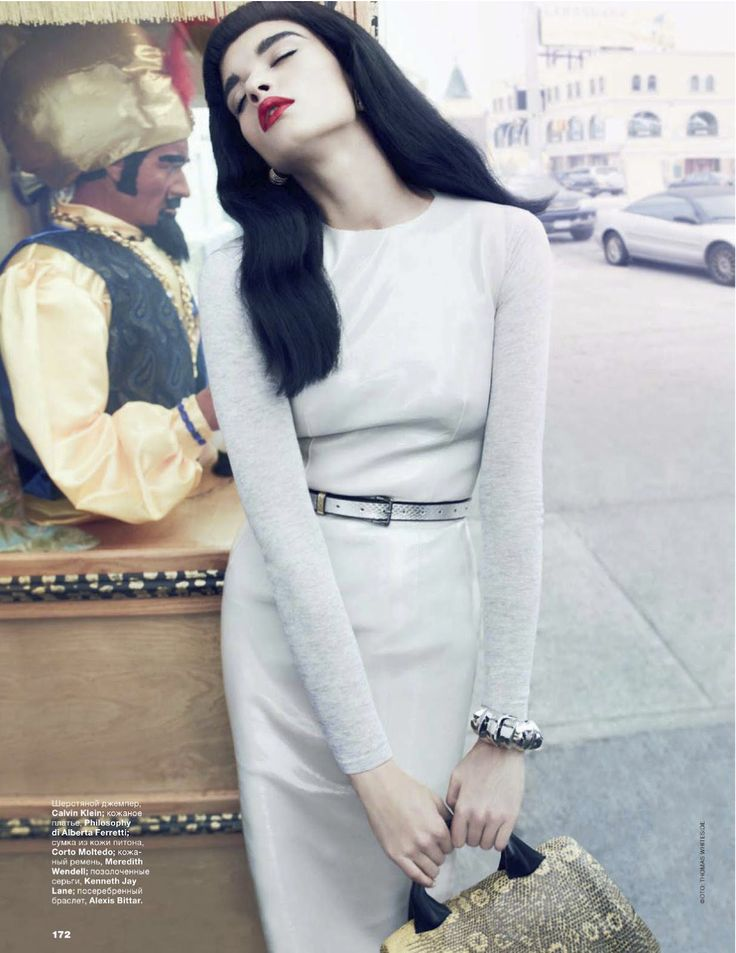 crystal renn by thomas whiteside for allure russia september 2012 | visual optimism; fashion editorials, shows, campaigns & more!