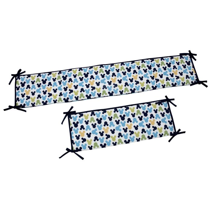 Disney My Friend Mickey color Cotton-blend Padded Crib Bumper