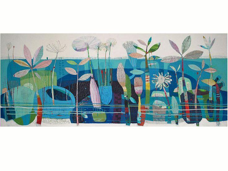 Artwork Name: Blue - Sacred Land : Art by Tiffany Calder Kingston Australian Artist