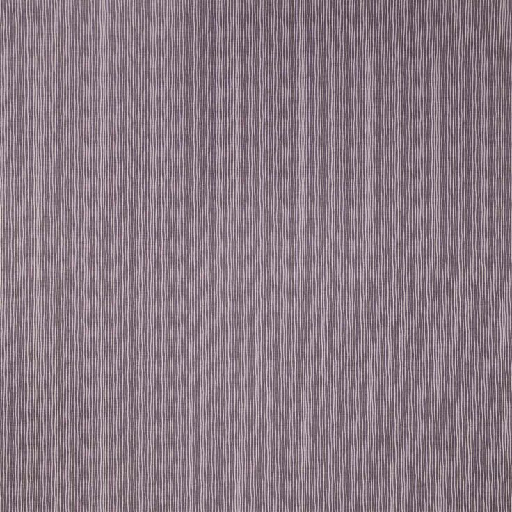 Pinstripe Curtain Fabric in Mulberry | Terrys Fabrics UK