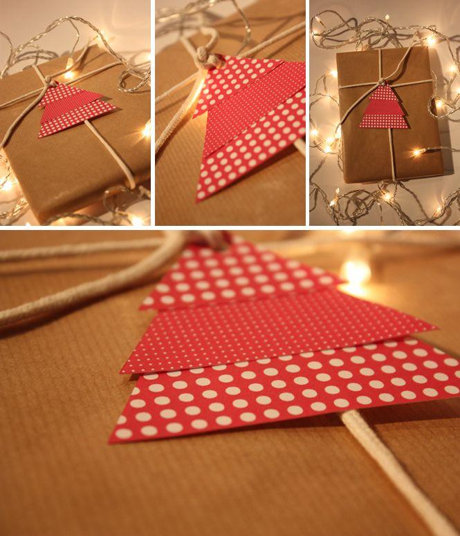 Petits sapins pour emballages cadeaux