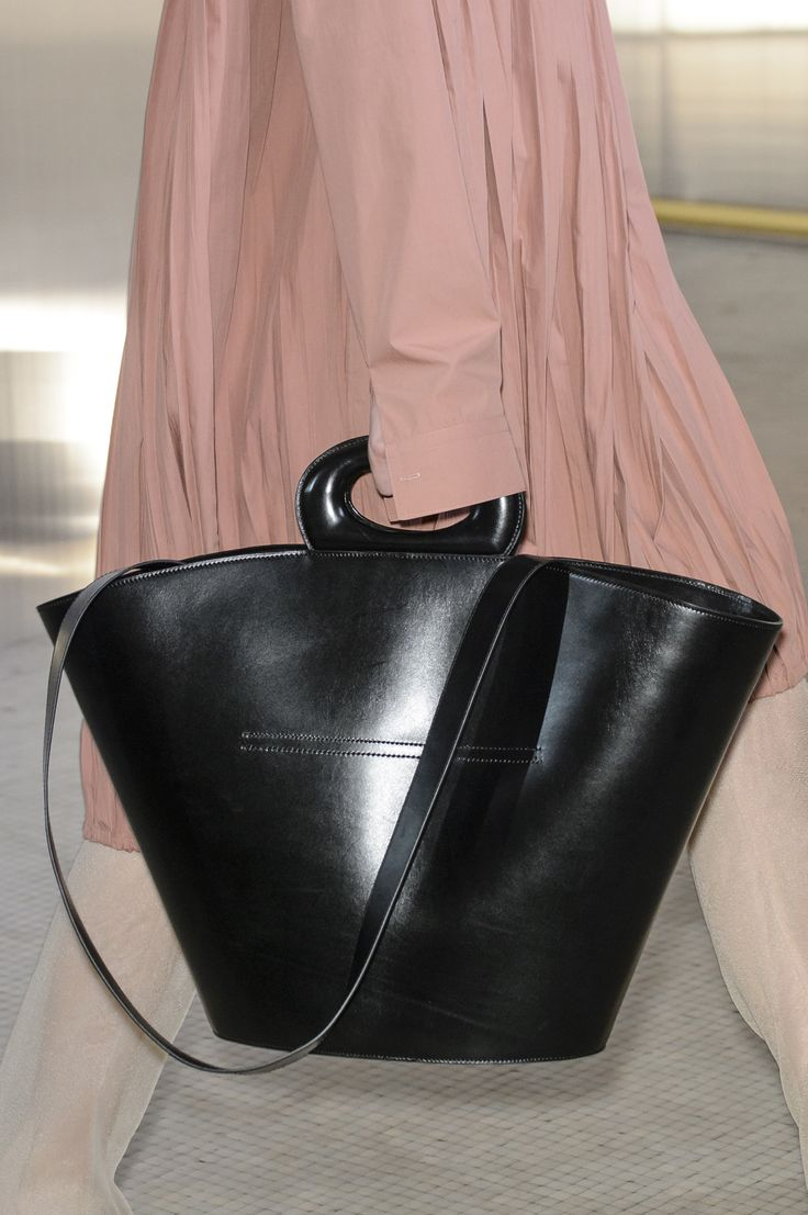 Lemaire Fall 2017 - Double strap big floppy purse