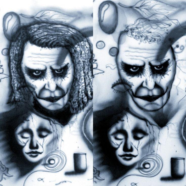 Esia Erster Versuch mit Airbrush.. Leinwand.. Gesicht.. Übungen.. Versuch.. Kunst.. Graffiti.. Detail..