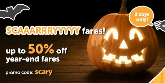 Tigerair Singapore Scary Sale Up to 50% Off Promotion ends 30 Oct 2016