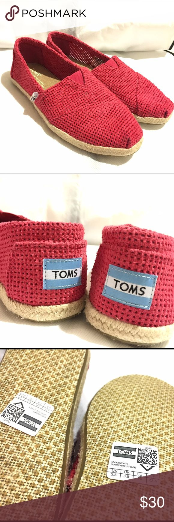 Brand new red TOMS Espadrilles with rope sole! Tags are still on. Never got a chance to wear them. In brand new condition. Super light and comfortable like all the TOMS :) TOMS Shoes Flats & Loafers
