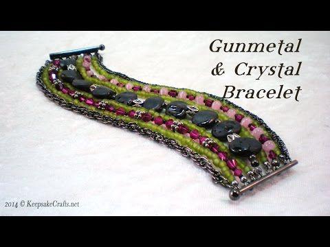 Crystals 'n Studs Bracelet Tutorial - YouTube