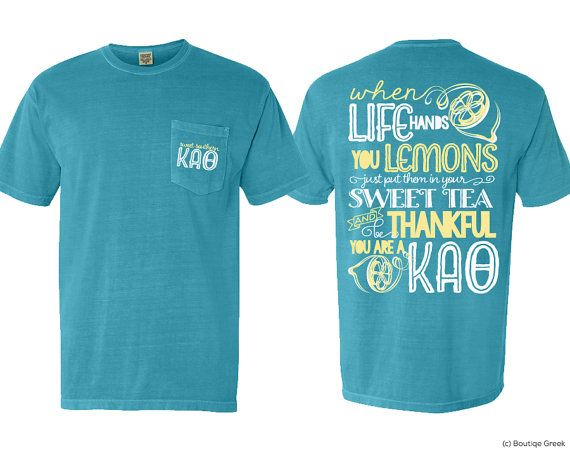 KAO Kappa Alpha Theta Sweet Southern Sorority Pocket Tshirt