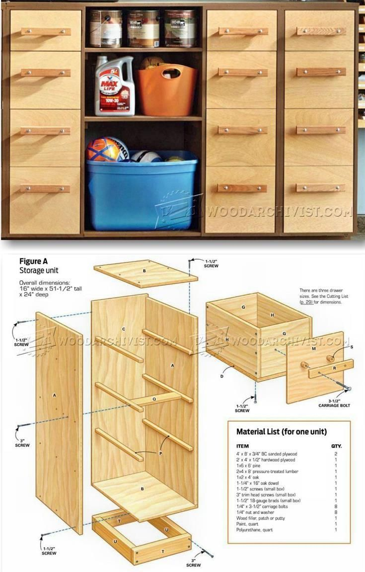 Garage Storage System Plans - Furniture Plans and Projects | WoodArchivist.com