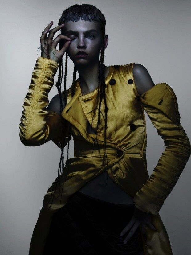 "Molly Bair stars in ""Amor"" for V Magazine #97 Fall 2015 by Nick Knight [fashion]"