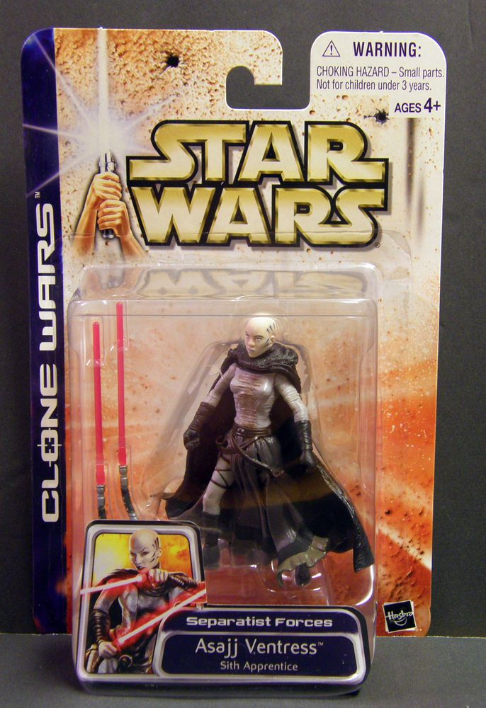 STAR WARS SAGA 2003 THE CLONE WARS ASAJJ VENTRESS SITH APPRENTICE MOC #47