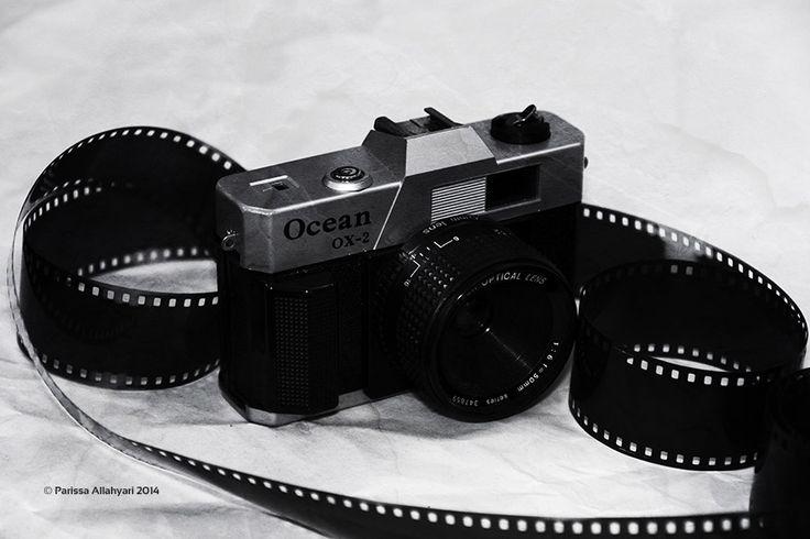 #retro #camera  by Parissa Allahyari #negative #black and #white