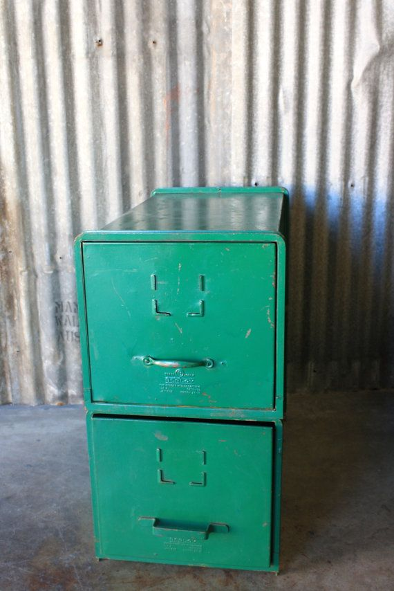 "Vintage Green Storage Cabinet ""The Morris Cabinet"" (sold as a set)"