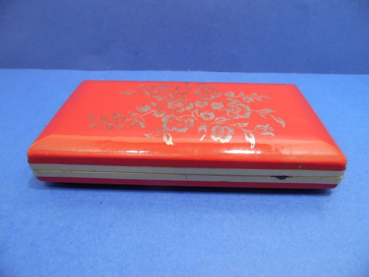 Vintage Mele Jewelry Box Hard Case 13 Compartments Red Gold Floral Hinged Lid | Jewelry & Watches, Jewelry Boxes & Organizers, Jewelry Boxes | eBay!