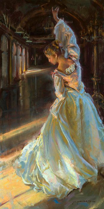 Daniel F. Gerhartz 1965 | Wisconsin Art Painting (I like the movement in the dress)