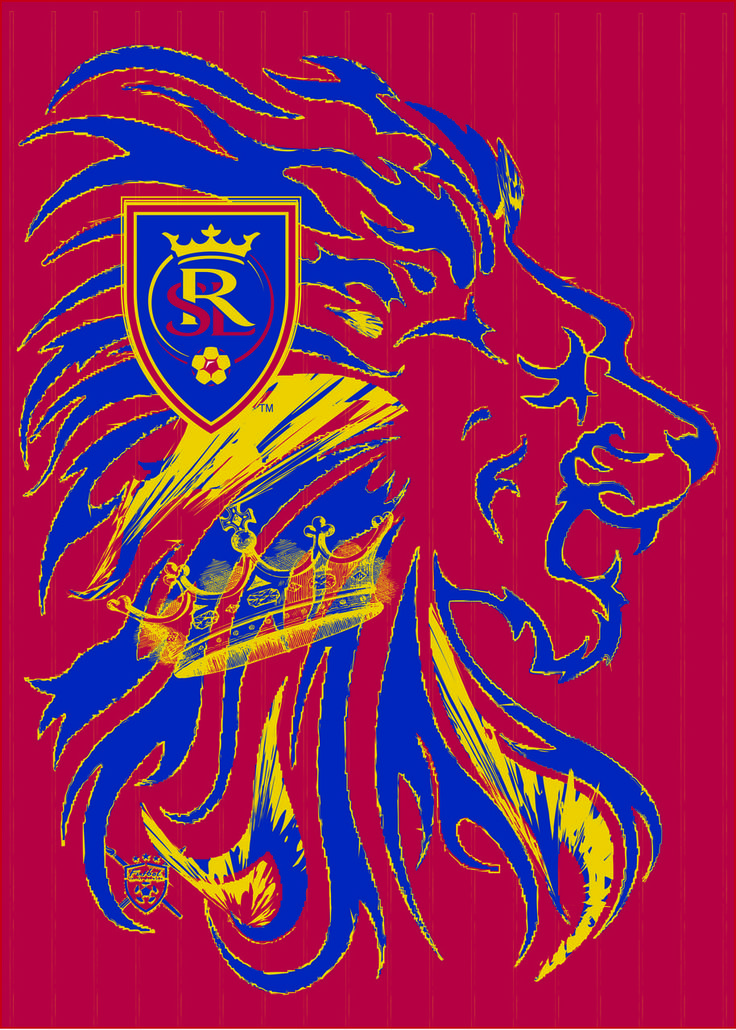 Real Salt Lake.  Futbol Artist Network art series done in collaboration with Major League Soccer.  Art by Matthew Ellinger of Salt Lake City, UT.  Art can be purchased at www.futbolartistnetwork.com
