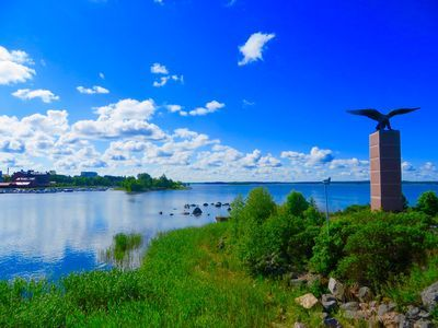 Blue sky, white clouds, pretty clear weather in Vaasa, Finland |Christian Nylund