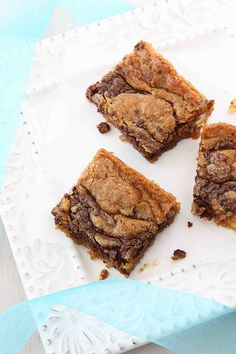 Nutella and Cream Cheese Swirled Blondies - superb!
