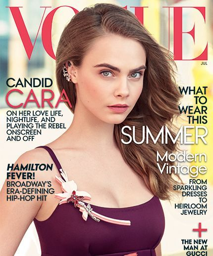 her first Vogue cover