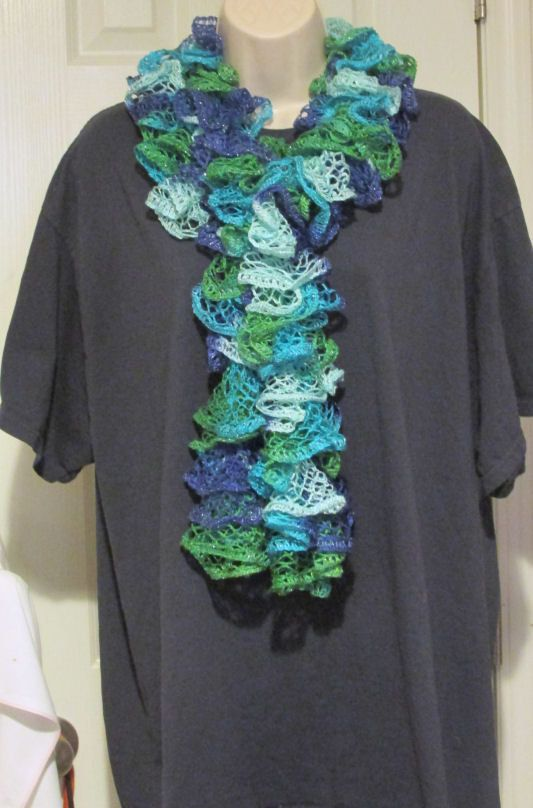 Sashay Frilly Ruffled Scarf  Free Shipping by WhisperingDreams, $12.00