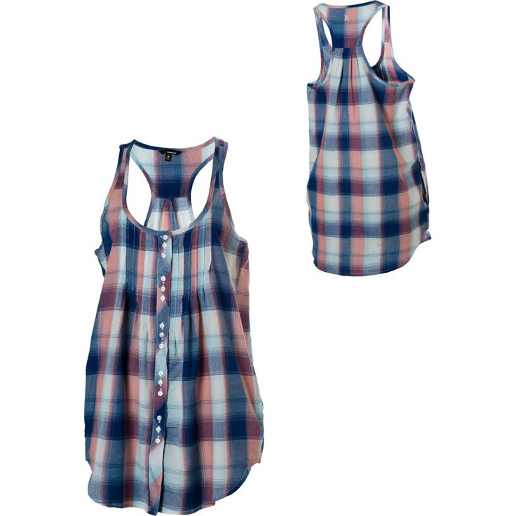 Idea to sew mens dress shirt into tunic tank top - No tutorial (that I can see) but I think I can figure it out.