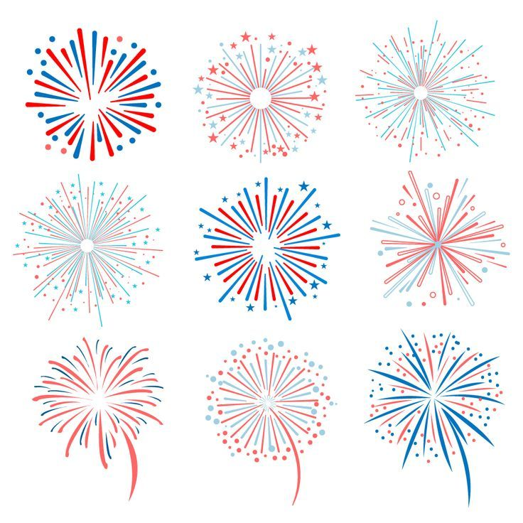 Fireworks vector illustration by TopVectors on Creative Market