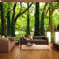 JAMMORY+Art+Deco+/+3D+Wallpaper+For+Home+Contemporary+Wall+Covering++Canvas+Material+Adhesive+required+MuralXL+XXL+XXXL+–+NZD+$+207.63