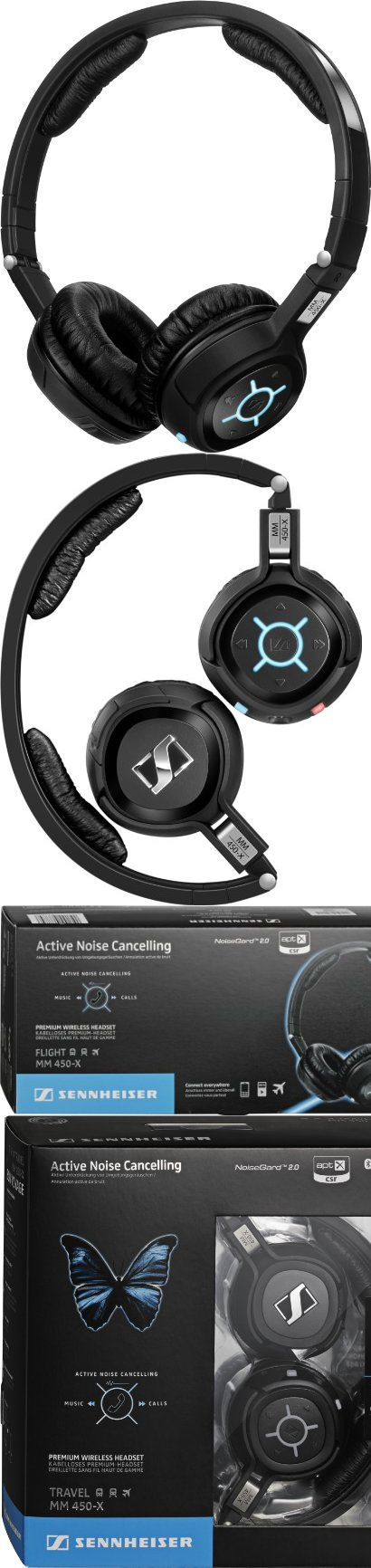 Sennheiser MM 450-X Wireless Bluetooth Headphones - Black, Noise-canceling, stereo Bluetooth headset with CD-quality sound, padded on-the-ear cushions and foldable construction, #Electronics, #Headphones, $449.95