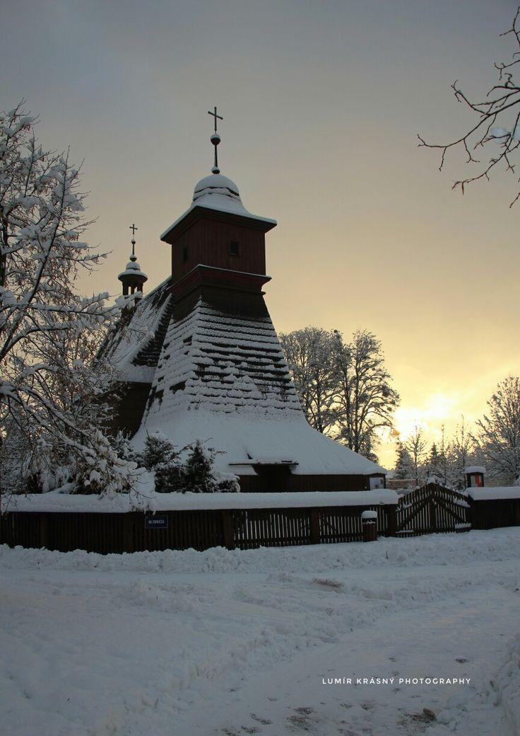 Východ slunce v Ostravě Hrabové u kostelíku  Lumír Krásný photography