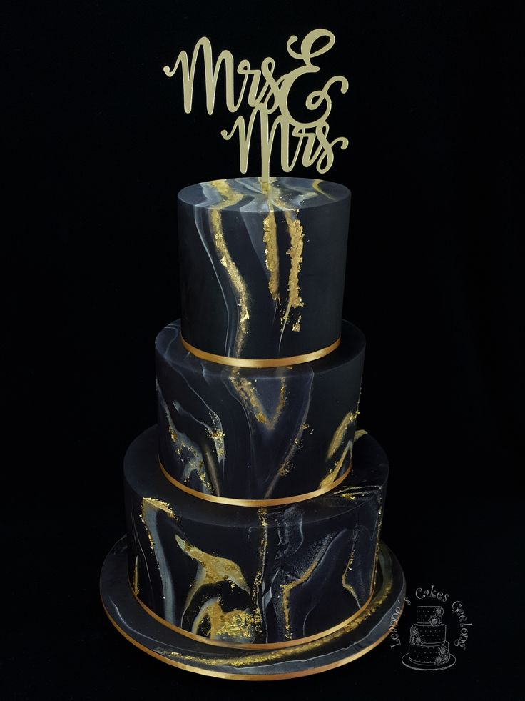 Black wedding cake cake chocolate ganache filling