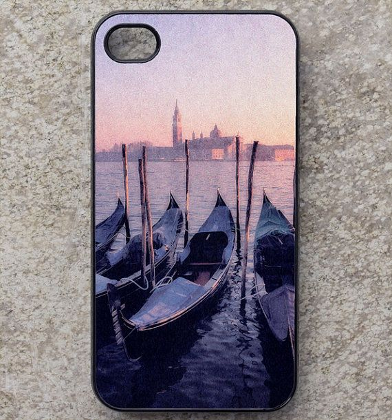 iphone 4  4S 5 5S or 5C case - smartphone - mobile - cover - Venice - gondola - Italy - galaxy S3 - Europe