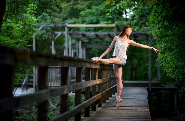Senior Portrait / Photo / Picture Idea - Girls - Dance / Dancer - Ballet / Ballerina - Bridge / Walkway