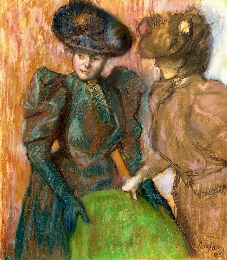 The Conversation ~ Edgar Degas ~ (French: 1834-1917)