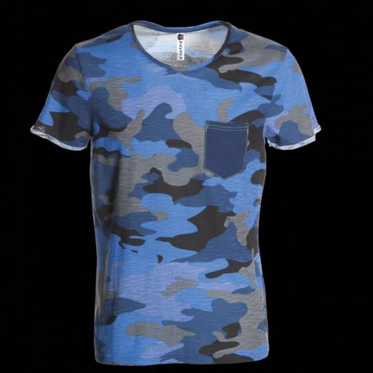 Pextex.cz - Pánské triko s krátkým rukávem Discovery Pocket PAYPER - blue…