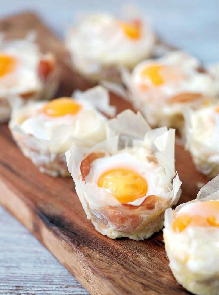 Filoformar med ägg och ost till påskbuffén
