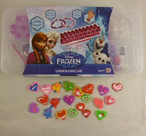 Disney Frozen 1000 Piece Loom Band Set With 20 Love Themed Charms [Toy] @ niftywarehouse.com #NiftyWarehouse #Frozen #FrozenMovie #Animated #Movies #Kids