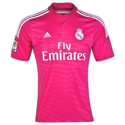Real Madrid 2014/2015 Away Shirt (Pink). Available from Kitbag.com