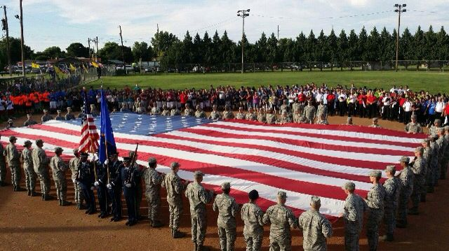 The Anerican Flag and this nations Airmen.