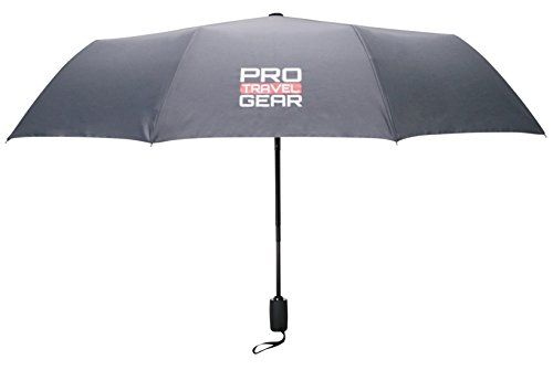 """Pro Travel Gear Windproof Travel Umbrella - 10 Ribs, Heavy-duty, Lightweight, Ergonomic Handle with Auto Open/Close Button, Collapsible 12"""" to 42"""" Canopy, Durable Teflon 210D Material - Designed to be ergonomic and user friendly, this travel umbrella by Pro Travel Gear has the perfect combination of size, strength, and durability. This heavy-duty wind-resistant umbrella comes with a nearly indestructible construction and ensures that you're ready for anything mother nature bring..."""
