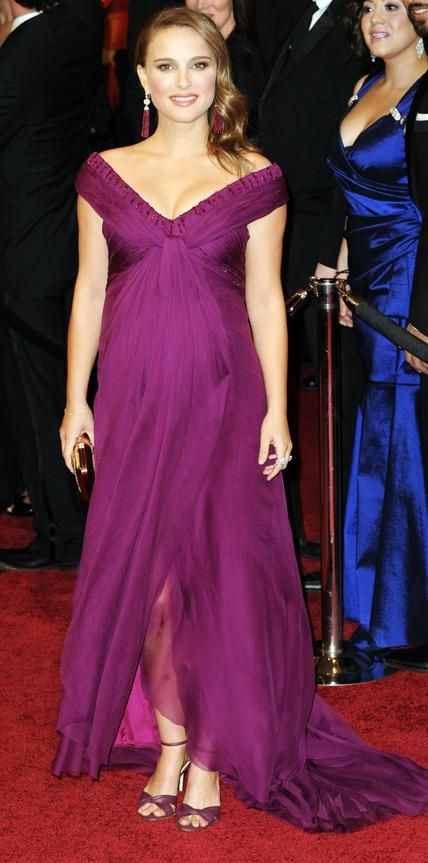 The Best Maternity Looks Ever On The Oscars Red Carpet - Natalie Portman, 2011 from InStyle