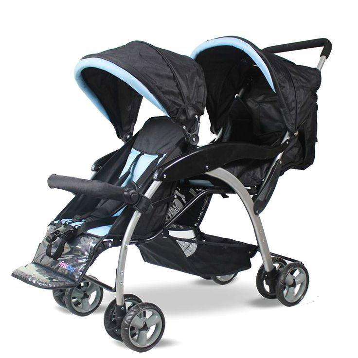 High Quality Fashion Twins Baby Stroller Folding Double Stroller Can sit Lying Pram Twins Shockproof Portable Twin Stroller C01